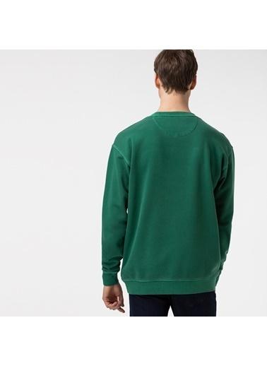 Lacoste Erkek Rahat Fit Sweatshirt SH0112.12Y Yeşil